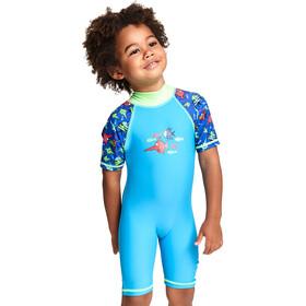 Zoggs Sea Saw Traje de Protección Solar Niños, blue
